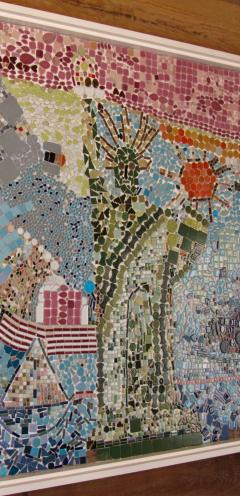 Mosaic Panel of The Bicentennial in New York Harbor 1978 4 by 8 feet - 1144542