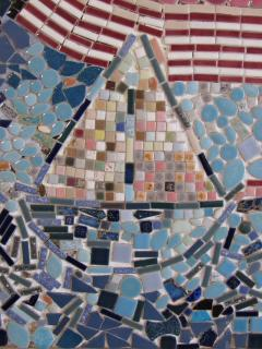 Mosaic Panel of The Bicentennial in New York Harbor 1978 4 by 8 feet - 1144543