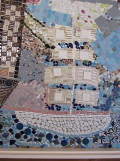 Mosaic Panel of The Bicentennial in New York Harbor 1978 4 by 8 feet - 1144545