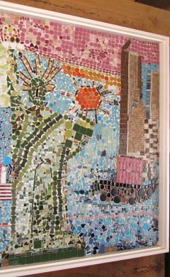 Mosaic Panel of The Bicentennial in New York Harbor 1978 4 by 8 feet - 1144548