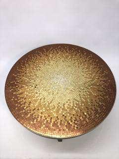 Mosaic side table Venetian glass tiles and bronze frame  - 1230812
