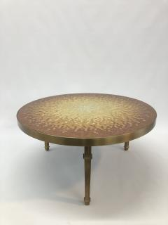 Mosaic side table Venetian glass tiles and bronze frame  - 1230813