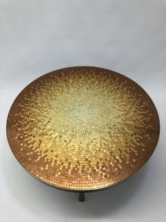 Mosaic side table Venetian glass tiles and bronze frame  - 1230814