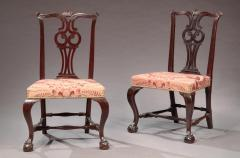 Moses Black Pair of Chippendale Side Chairs - 593873