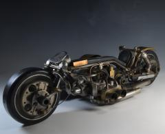 Motorcycle One of a Kind Machine Age Sculpture by John Gallagher - 1802027