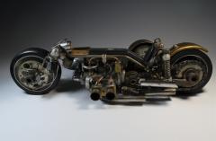 Motorcycle One of a Kind Machine Age Sculpture by John Gallagher - 1802028