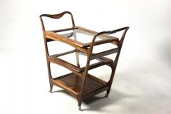 Moveis Teperman Mid Century Modern Three Tier Tea Cart by Teperman Manufacture Brazil 1950s - 1388366