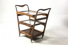 Moveis Teperman Mid Century Modern Three Tier Tea Cart by Teperman Manufacture Brazil 1950s - 1388368