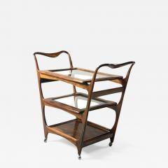 Moveis Teperman Mid Century Modern Three Tier Tea Cart by Teperman Manufacture Brazil 1950s - 1389116