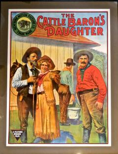 Movie Poster The Cattle Barons Daughter Circa 1910 - 888422