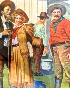 Movie Poster The Cattle Barons Daughter Circa 1910 - 888426