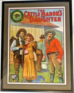 Movie Poster The Cattle Barons Daughter Circa 1910 - 888431