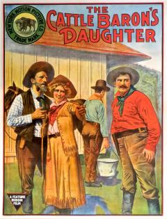 Movie Poster The Cattle Barons Daughter Circa 1910 - 894849