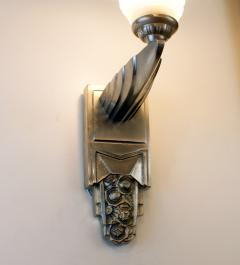 Muller Fr res Beautiful Pair of French Art Deco Sconces Signed Muller Fr res Luneville - 1835277