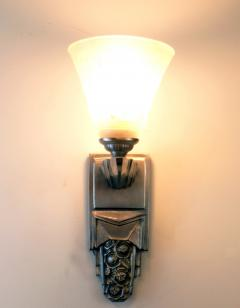 Muller Fr res Beautiful Pair of French Art Deco Sconces Signed Muller Fr res Luneville - 1835280