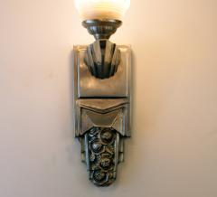 Muller Fr res Beautiful Pair of French Art Deco Sconces Signed Muller Fr res Luneville - 1835281