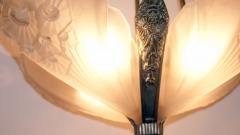 Muller Fr res Gorgeous French Art Deco Chandelier Signed by Muller Fr res Luneville - 1786441