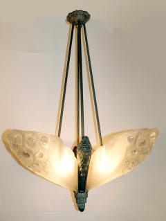 Muller Fr res Gorgeous French Art Deco Chandelier Signed by Muller Fr res Luneville - 1786443