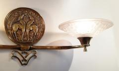 Muller Fr res Gorgeous and Rare Pair of French Art Deco Sconces Signed Muller Fr res Luneville - 1835297