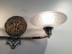 Muller Fr res Gorgeous and Rare Pair of French Art Deco Sconces Signed Muller Fr res Luneville - 1835298