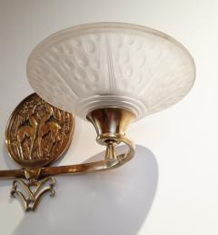 Muller Fr res Gorgeous and Rare Pair of French Art Deco Sconces Signed Muller Fr res Luneville - 1835303