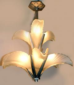 Muller Fr res Les Plumes French Art Deco Chandelier - 1786458