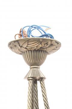 Muller Fr res Muller Fr res Luneville Art Deco 4 Ball Chandelier in Pressed Molded Glass - 1238012
