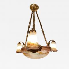 Muller Fr res Muller Freres French Art Deco Chandelier - 1752260