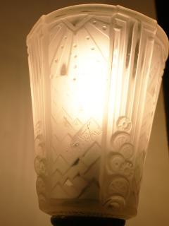 Muller Fr res Pair of Art Deco Sconces Signed Muller Freres Luneville - 1817179