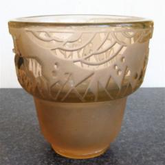 Muller Fr res Signed M ller Fr res Luneville 1930s Art Deco Glass Vase - 1418771