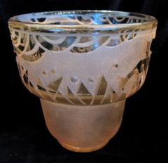 Muller Fr res Signed M ller Fr res Luneville 1930s Art Deco Glass Vase - 1418772