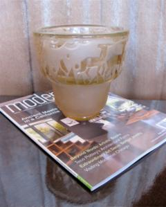 Muller Fr res Signed M ller Fr res Luneville 1930s Art Deco Glass Vase - 1418775