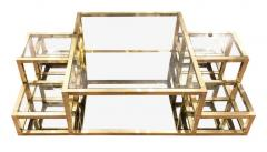Multi Level Brass Coffee Table Italy 1960s - 848310