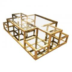Multi Level Brass Coffee Table Italy 1960s - 848311