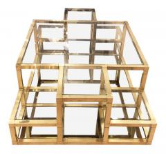 Multi Level Brass Coffee Table Italy 1960s - 848312