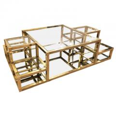 Multi Level Brass Coffee Table Italy 1960s - 848314