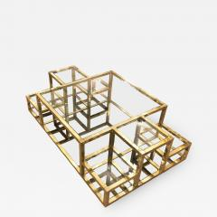 Multi Level Brass Coffee Table Italy 1960s - 850283