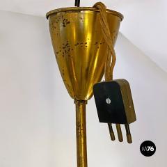 Multi light brass chandelier 1950s - 2102730