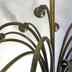 Multi light brass chandelier 1950s - 2102746