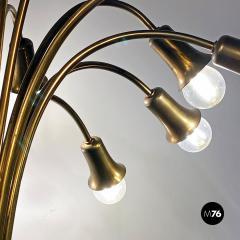 Multi light brass chandelier 1950s - 2102748