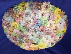 Multicolor Flowers Basket Murano Glass Ceiling Light - 1300680