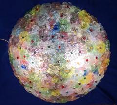 Multicolor Flowers Basket Murano Glass Ceiling Light - 1300681