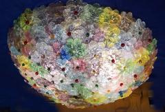 Multicolor Flowers Basket Murano Glass Ceiling Light - 1300682