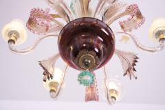 Multicolored Venetian Murano Glass Chandelier - 550234