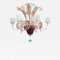 Multicolored Venetian Murano Glass Chandelier - 551172