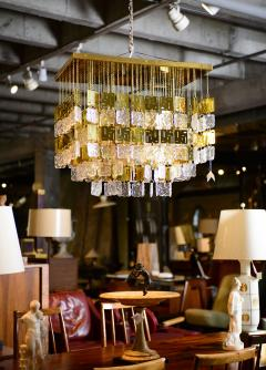 Murano Crystal and Brass Chandelier - 212766