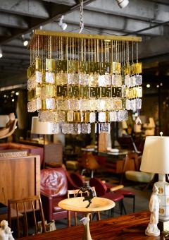 Murano Crystal and Brass Chandelier - 212767