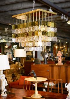 Murano Crystal and Brass Chandelier - 212771