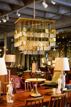 Murano Crystal and Brass Chandelier - 212772