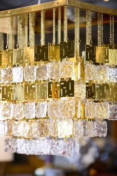 Murano Crystal and Brass Chandelier - 212778